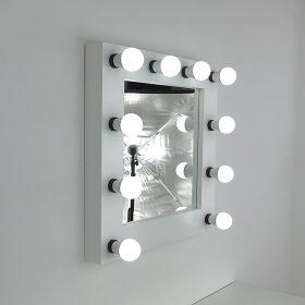 Espejo de teatro de artistmirror- Deluxe en blanco, 60 x x60 cm, para pararse y colgar, de artistmirror.